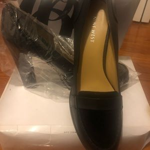NEVER WORN Leather and Suede Ninewest Heels